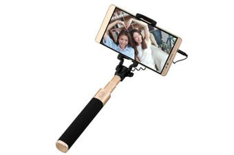 Original HUAWEI Mini Extendable Handheld Folding Selfie Stick Holder Monopod for Smartphone-Black