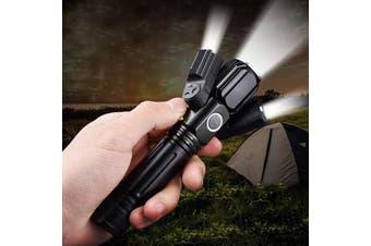 BRELONG Wide Angle Flashlight Long Range-Black