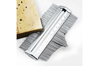 Irregular Profile Gauge Drawing Woodworking Measurement Profile 0 - 125mm-Silver