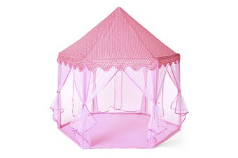 Large Princess Play Tent Castle Tulle Children Game House-Pink