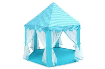 Large Princess Play Tent Castle Tulle Children Game House-Blue