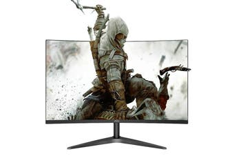 AOC C27B1H Monitor 27 inch 1700R Curved LCD MVA Display 1920 x 1080 FHD HDMI + VGA + 3.5mm Audio Output + 60Hz