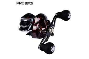 PRO BEROS Metal Fishing Reel Aluminum Alloy 18 + 1 Ball Bearings Spool-left-Black