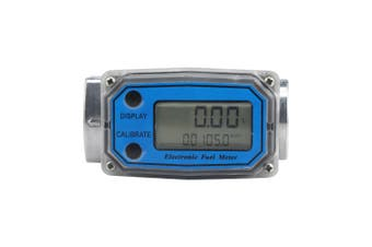 Digital Turbine Flow Meter for Measuring Gasoline Diesel Kerosene-Blue