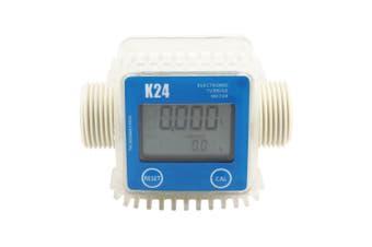 K24 Digital Turbine Flow Meter for Measuring Gasoline Diesel Kerosene-Blue