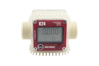 K24 Digital Turbine Flow Meter for Measuring Gasoline Diesel Kerosene-Red