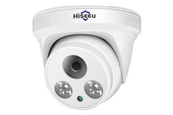 Hiseeu Motion Detection / 1080P / Night Vision / H.265 Hemisphere 3.6mm Lens Network Camera-White