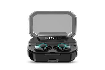 KUMI 6D Stereo Bluetooth Earphones Digital Display Waterproof Noise Reduction for Android / iOS-Black