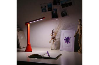 YEELIGHT 40 Hours Lasting Time Light Portable Three Dimmer USB Folding Charging Small Table Lamp-Red