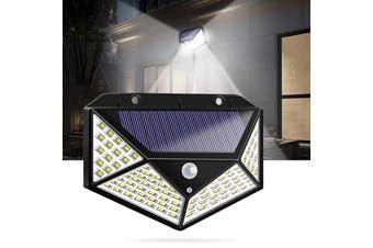 100 LED Solar Powered Garden Lamp-Black