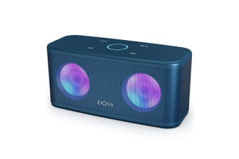 DOSS SoundBox Plus TWS Bluetooth Speaker Wireless Stereo 20H Playtime Deep Bass