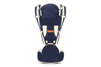 Baby Lab Carrier Multifunctional Waist Stool with Windshield Cap-Deep Blue
