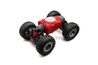 JZL Wireless Remote Control Car Four-wheel Drive Mini-distortion Toy-S-Valentine Red