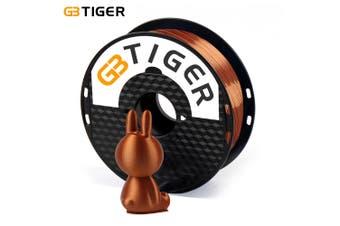 GBTIGER 3D Printer Filament Silk PLA 1.75mm Diameter 1kg Spool High Precision for Any Artware-Copper