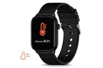 TICWRIS GTS Real-time Body Temperature Detect Smart Watch-Black