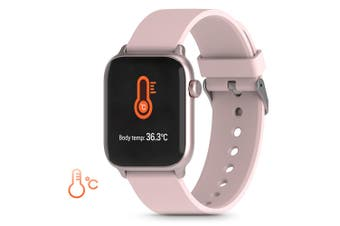 TICWRIS GTS Real-time Body Temperature Detect Smart Watch-Pink