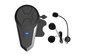 Motorcycle Helmet Bluetooth Headset Wireless Riding Motorcycle Helmet 1000 Meters Built Walkie-talkie-Black