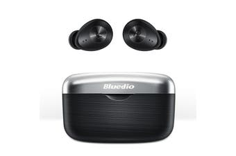 Bluedio Fi TWS Bluetooth Headphones Wireless Earbuds Waterproof Sports Headphones with Charging Case-Black