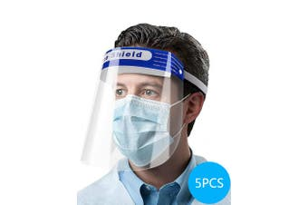 5PCS Anti Spray Protective Face Shields Set