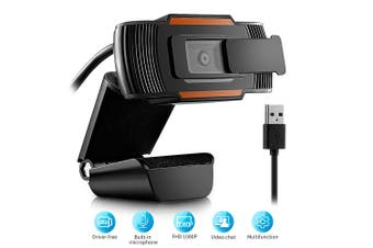 104JD Webcam 1080P PC Camera with Privacy Cover USB Connection Built-in Noise-reduction Microphone for Live Streaming