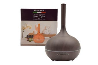 Milano Decor Supreme Ultrasonic Aroma Diffuser with 3 Pack of Oils Dark Wood