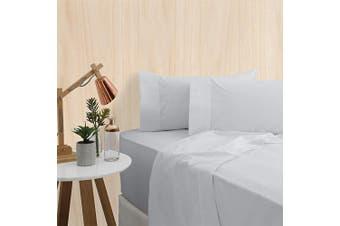 Bas Phillips Premium Bedding 400TC Bamboo Sheet Set Queen Bed Silver
