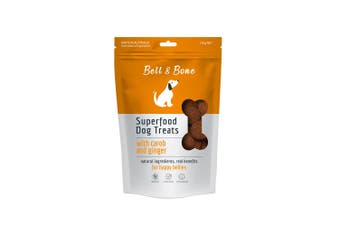 Bell & Bone Superfood Dog Treats Carob and Ginger 150g