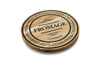 Salt & Pepper Fromage 28cm Round Wooden Cheese Board