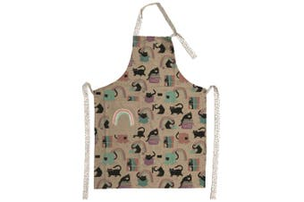 The Linen Press Organic Cotton Cat Love Children's Apron