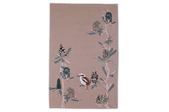 The Linen Press Organic Cotton Kookaburra & Banksia  Tea Towel