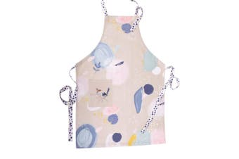 The Linen Press Organic Cotton Wild Blue Wren Pastel Apron