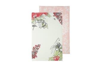 Ecology May Gibbs Gumnut 2 Piece Tea Towel Set Green & Pink