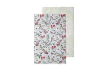 Ecology May Gibbs Blossom 2 Piece Tea Towel Set Blue & Green