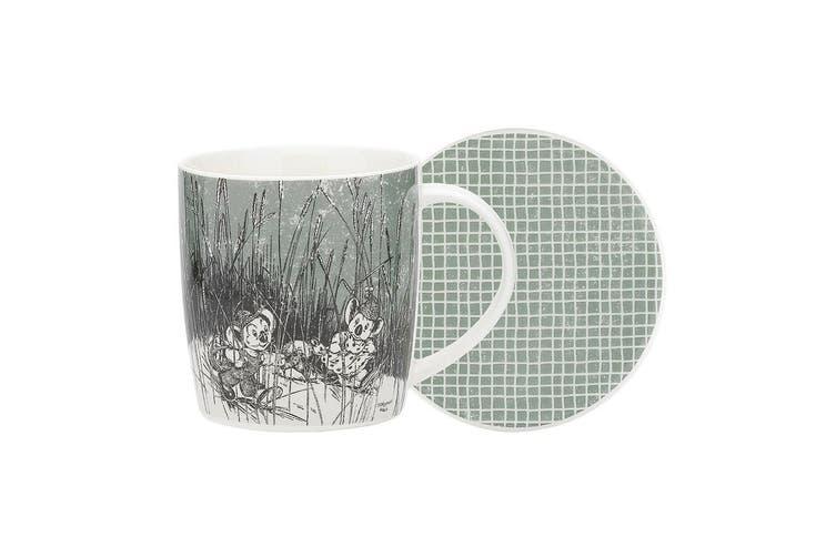Ecology Blinky Bill New Fine China Mug & Coaster Set 320ml Green