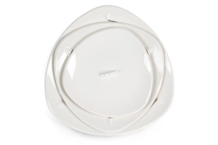 Fozzils Twistfold 3 Tier Party Plate White