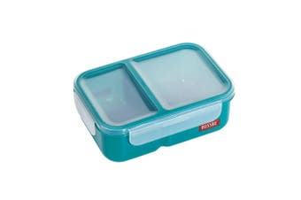 Russbe Plastic Lunch Bento 2-Compartment 1.1L Teal