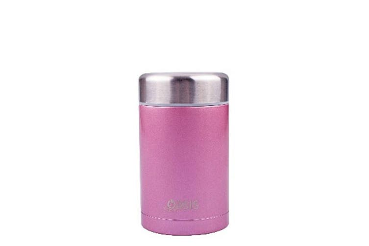 D.Line Oasis Food Flask 450ml Stainless Steel Blush