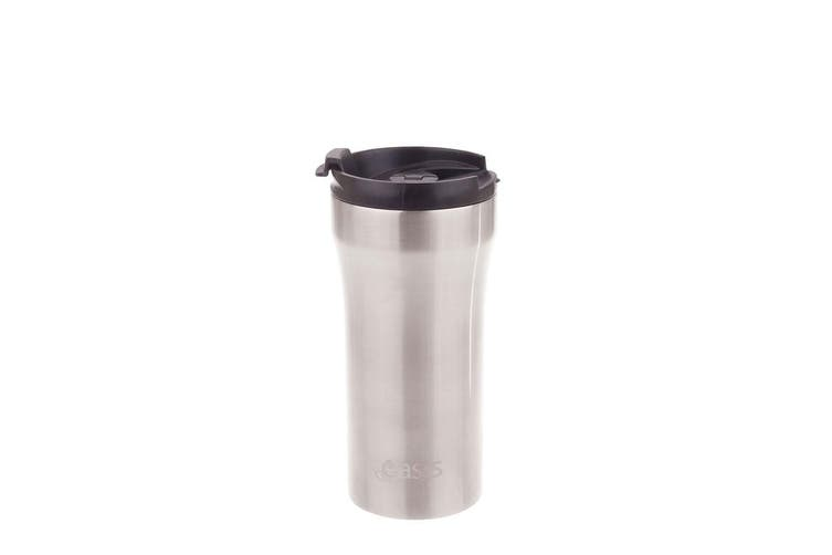 Oasis Insulated Plunger Travel Cup 350ml Silver