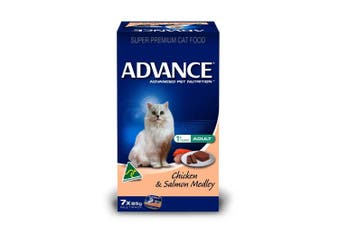 Advance Adult Cat Food 7x85g Chicken & Salmon Medley