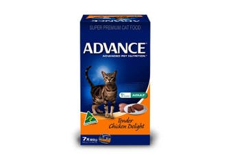 Advance Adult Cat Food 7x85g Tender Chicken Delight