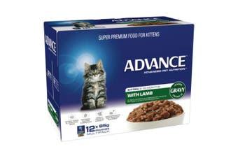 Advance Kitten Lamb in Gravy Wet Food 12x85g