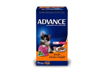 Advance Kitten Food 7x85g Tender Chicken Delight