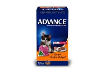 Advance Kitten Food 7x85g Tender Chicken Delight