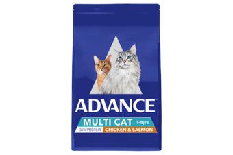 Advance Total Wellbeing Adult Multi Cat Chicken & Salmon 3kg