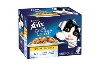 Felix As Good As It Looks Poultry Menu Wet Cat Food 12x85g