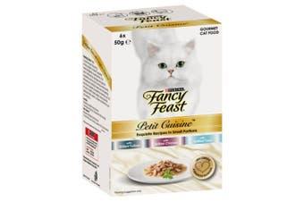 Fancy Feast Petit Cuisine Cat Food Turkey, Chicken & Tuna 6x50g