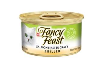Fancy Feast Grilled Salmon Feast in Gravy Wet Cat Food 24x85g