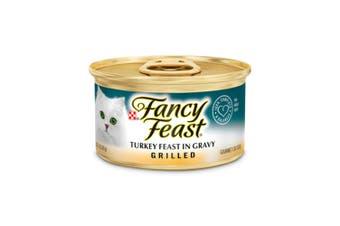 Fancy Feast Grilled Turkey Feast in Gravy Wet Cat Food 24x85g
