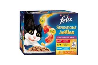 Felix Sensations Favourites Menu Cat Food 12x85g