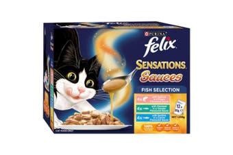 Felix Sensations Sauces Fish Selection Wet Cat Food 12x85g